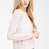 Multicolored Open-Knit Sweater