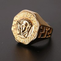8DESS Versace Woman Men Fashion Accessories Fine Jewelry Ring