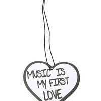 Music Is My First Love Air Freshener