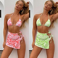 Bikini tie-dye swimsuit bikini 2020 new swimsuit ladies split swimwear