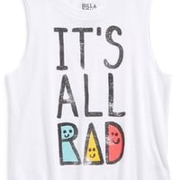 Girl's Billabong 'It's All Rad' Graphic Muscle Tee,