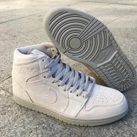 Air Jordan 1 Retro High OG Wolf Grey Suede AJ1 Sneakers - Best Deal Online