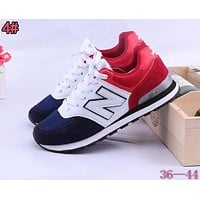 Alwayn New Balance Fashionable Casual All-Match N Words Breathable Couple Sneakers Shoes 4#