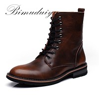 New Arrival Fashion Handmade Super Warm Autumn Winter Men Shoes Casual Ankle Boots Wipe color Snow Boots