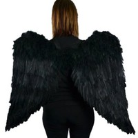 Touch of Nature 11018 Adult Angel Wing in Black with Elastic Straps, 43 by 27-Inch