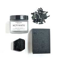 NEW. Activate Facial Mask and Charcoal Soap Set. Deep Cleansing Skin Care Set. All Natural.