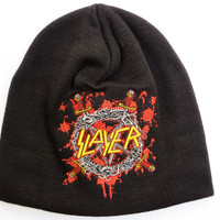 SLAYER Blood Drip Shield Winter Wool Beanie Hat BNWT