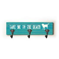 Take Me To The Beach by Artist Lisa Weedn Decorative Leash Hanger