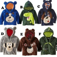 Boys Sweaters Sell bear Hoodie Fleece dog jacket:s coats