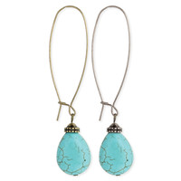 Earwire Turquoise Bead Earrings