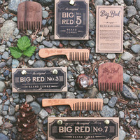 Big Red Beard Combs - TRIO