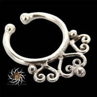 Fake Septum Ring - Faux Septum Ring - Fake Piercing - Clip On Piercing - Clip On Septum - Septum Jewelry - Septum Cuff - Nose Jewelry SF30S