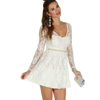 Sale-white My Fair Lady Dress