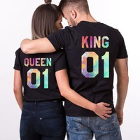 King and Queen, Watercolor, Matching Couples Shirts - Awesome Matching Shirts for Couples, Families and Friends by EpicTees