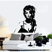 Vinyl Wall Decal Pretty Woman Beauty Fashion Salon Stickers Unique Gift (ig3909)