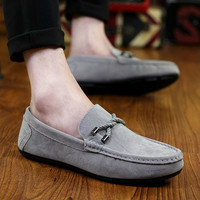 Nubuck Leather Slip On Loafers Casual Shoes