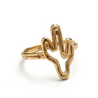 Cowgirl Cactus Ring - Gold