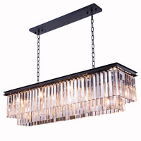 Sydney Pendent Lamp, Mocha Brown Finish (Royal Cut Crystals)