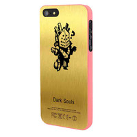 Knight Lautrec In Gold Texture iPhone 5 Case Framed Pink