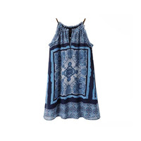 HALTER PAISLEY DRESS