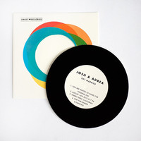Vintage Wedding invitation Record with Sleeve by ellothere
