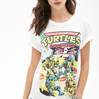 FOREVER 21 TMNT Graphic Tee White/Multi