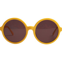GOLF SUNGLASSES - ROUND YELLOW