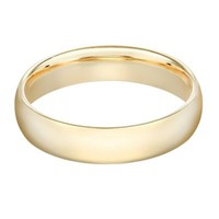 14K Yellow Gold Men's Standard Comfort Fit 6mm Wedding Band