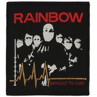 Rainbow Men's Difficult To Cure Woven Patch Black