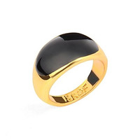 Intionix Shop High Quality Men's Single Ring 18K Gold Plated Rings 1pc