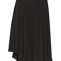 Chloé - Asymmetric silk-blend georgette midi skirt