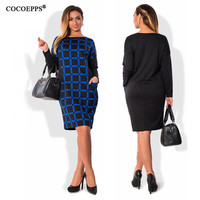 fashionable office women dresses big sizes 2017 plus size women clothing 5xl 6XL winter dress casual o-neck Work bodycon Dress