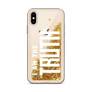 """I AM THE TRUTH"" Positive Motivational & Inspiring Quoted Liquid Glitter iPhone Mobile Phone Case"