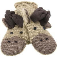 Manny The Moose Knit Kids Mittens