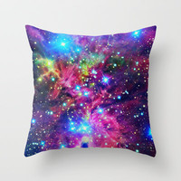 Astral Nebula Throw Pillow by Starstuff | Society6