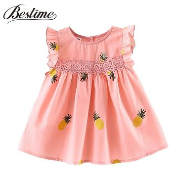 Baby Girls Clothes Summer born Infant Dress Cotton Pineapple Sleeveless Toddler Dresses