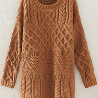 Khaki Long Sleeve Sweater