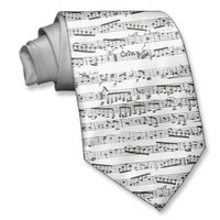 Black and white musical notes ties from Zazzle.com
