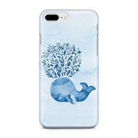 Cute Watercolor Whale Phone Case, Ocean Phone Case, Nautical Phone Case, Sweet Phone Case, iPhone 8, Samsung Galaxy S9