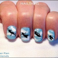 Peter Pan and friends Silhouette Nailthins Nail Art Designs