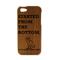 Drake iphone 5 case, wood iphone 5s case, started from the bottom case, Nothing Was the same accessories, ovo iphone case