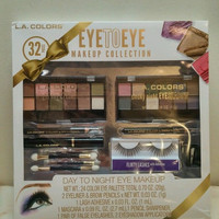 L.A. Colors Eye to Eye make up collection 32 pieces New in box