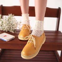 Lace Up Women Flats Platform Shoes 2808