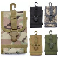 CQC 6.0 Inch Outdoor Military Tactical Universal Nylon Cell Phone Holder Molle Mobile Phone Hook Cover Pouch Case Belt Waist Bag