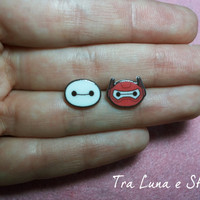 Earrings Baymax, Big Hero 6 Disney - kawaii, cute