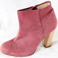 """~~ TOOOOOTAL-SCORE ~~ THE PERFECT A.P.C. APC DUSTY ROSE SUEDE """"ANKLE"""" BOOTS ~ 40"""