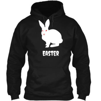 Evil Easter Bunny Rabbit Anti Holiday Pastel Goth Shirt Top Pullover Hoodie 8 oz