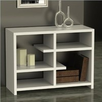 Convenience Concepts Northfield Floating Bookcase Console, White