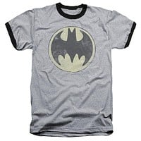 Mens Vintage Batman Old Time Logo Ringer T-Shirt