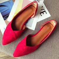 New style side empty flannelette with pointed flat flats